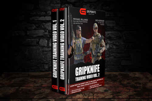 Training Videos Vol 1 & Vol 2: Defending your rifle with the GRIPKNIFE WEAPON SYSTEM by former U.S. Navy Seal Rich Graham