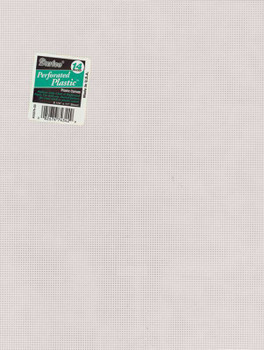 """Perforated Plastic Canvas 14 Count 8.5""""X11"""" White"""