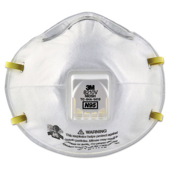 3M Particulate Respirator 8210V, N95 with 3M Cool Flow Valve