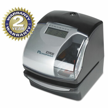 Acroprint ES900 Atomic Electronic Payroll Recorder, Time Stamp and Numbering Machine