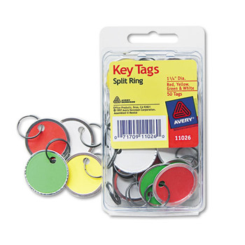 Avery Key Tags with Split Ring