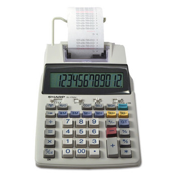Sharp EL-1750V Two-Color Printing Calculator