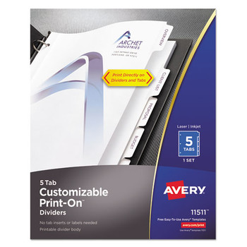 Avery Customizable Print-On Dividers - AVE11511