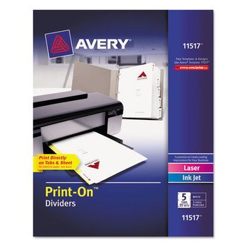 Avery Customizable Print-On Dividers - AVE11517
