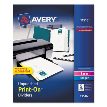 Avery Customizable Print-On Dividers - AVE11516