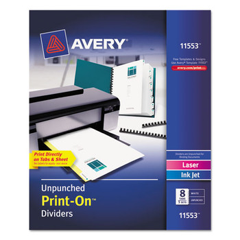 Avery Customizable Print-On Dividers - AVE11553