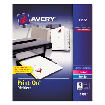 Avery Customizable Print-On Dividers - AVE11552