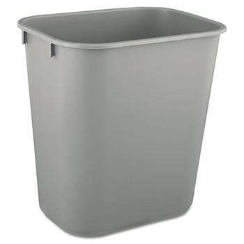 Rubbermaid Commercial Deskside Plastic Wastebasket - RCP2955GRA