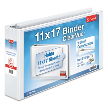 Cardinal 11 x 17 ClearVue Slant-D Ring Binder - CRD22142
