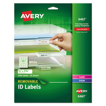 Avery Removable Multi-Use Labels - AVE6467