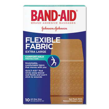 BAND-AID Flexible Fabric Extra Large Adhesive Bandages