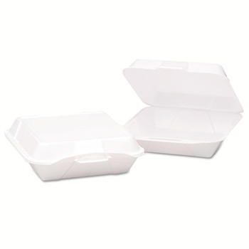 Genpak Hinged-Lid Foam Carryout Containers - GNP20500V