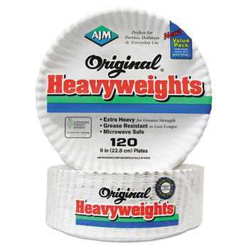 AJM Packaging Corporation Gold Label Coated Paper Plates - AJMOH9AJBXWH