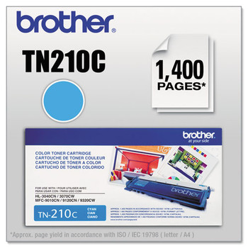 Brother BRTTN210BK, BRTTN210C, BRTTN210M, BRTTN210Y Toner - BRTTN210C