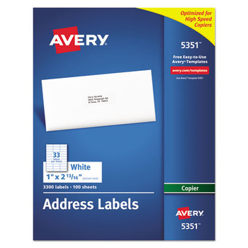Avery Copier Mailing Labels - AVE5351