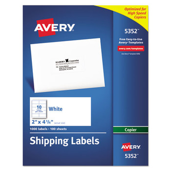 Avery Copier Mailing Labels - AVE5352
