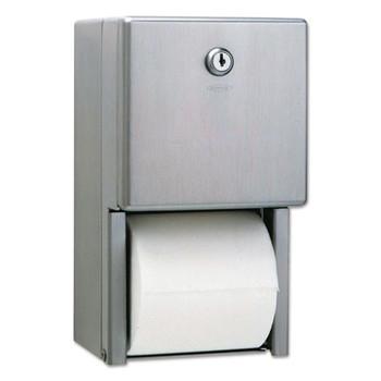 Bobrick Stainless Steel Two-Roll Tissue Dispenser