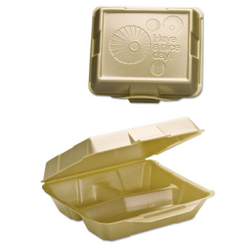 Genpak Hinged-Lid Foam Carryout Containers - GNP2031013