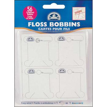 Cardboard Floss Bobbins 56/Pkg
