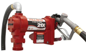 Fill-Rite® Rotary Vane Pumps with Hose and Manual Nozzle