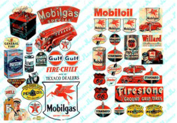 JL Innovative Design Gas Station & Oil Posters 1940's and 1950's 184