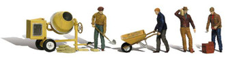 Woodland Scenics A2173 Masonry Workers N Scale Figures