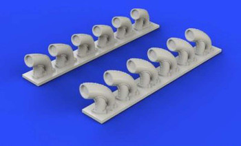 1/32 Aircraft- P39Q/N Exhaust Stacks for KTY (Resin)