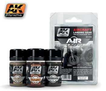 Air Series: Aircraft Landing Gear Enamel Weathering Set (3 Colors) 35ml Bottles