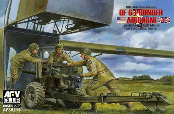 Airplane Model Kit - 1/35 British QF MK 4 6-pdr Anti-Tank Gun & MK III