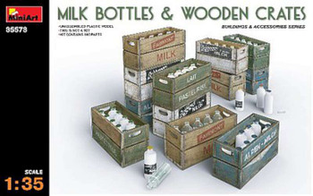 1/35 Milk Bottles/Wooden Crates