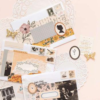 Maggie Holmes Heritage Ephemera Die-Cuts 40/Pkg Cardstock & Vellum