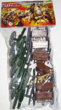 BMC 98526 American Civil War Gettysburg Cannon & Limber Wagon Bagged Toy Set