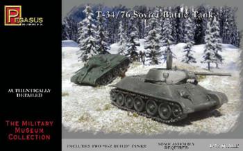 Pegasus Hobby 1/72 Russian T-34/76 Tanks PGH7661