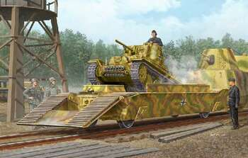 Panzertragerwagen with Tank, 1/35 by Trumpeter, Model Vehicle