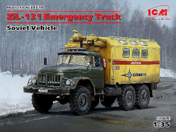 Soviet ZiL131 Emergency Army Truck -- Plastic Model Military Vehicle Kit -- 1/35 Scale -- #35518