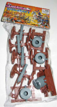 BMC 98567 American Revolutionary War Cannons & Mortars Bagged Plastic Toy Set