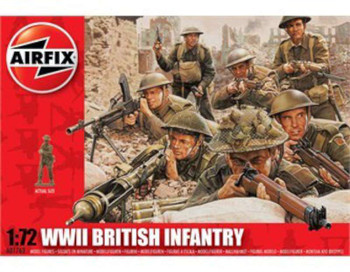Airfix Products 1763 1/72 WWII British Infantry Figure Set
