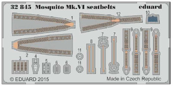 1/32 Aircraft- Seatbelts Mosquito Mk VI for TAM (Painted)