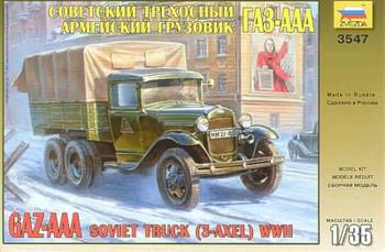 Zvezda GAZ-AAA Soviet Truck (3-axle) 1:35