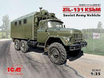 ZiL131 KShM Soviet Army Vehicle (New Tool) -- Plastic Model Military Vehicle -- 1/35 -- #35517