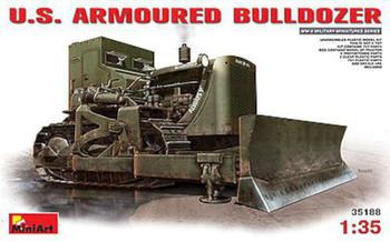 US Armored Bulldozer (New Tool) -- Plastic Model Military Vehicle Kit -- 1/35 Scale -- #35188