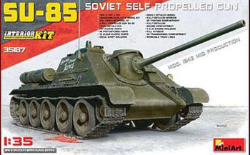 SU-85 Soviet Self-Propelled Gun -- Plastic Model Military Vehicle Kit -- 1/35 Scale -- #35187