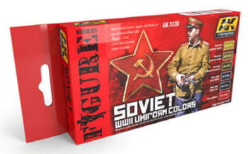 Soviet WWII Uniform Colors Set, 17ml by AK Interactive, Model Paint