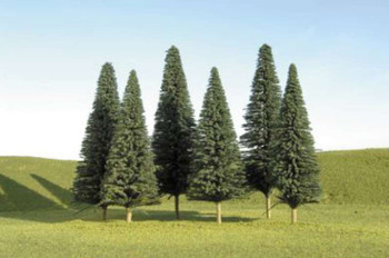 """Bachmann - SceneScapes? Layout-Ready Trees -- Pine Trees 3-4"""" pkg(9) - N"""