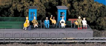 Bachmann 42342 HO Sitting Passengers Train Figures HO Scale