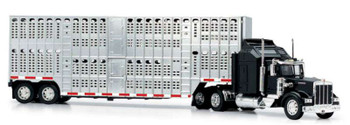 New Ray Kenworth W900 Pot Belly Livestock Black (1:43) Model