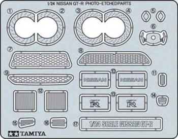 Tamiya 12623 1/24 Photo Etch Parts Set Nissan GT-R TAMS2723