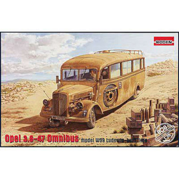 Opel Blitz Omnibus W39 Afrika Corps -- Plastic Model Military Vehicle Kit -- 1/35 Scale -- #808
