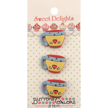 Sweet Delights Buttons Coffee Cups