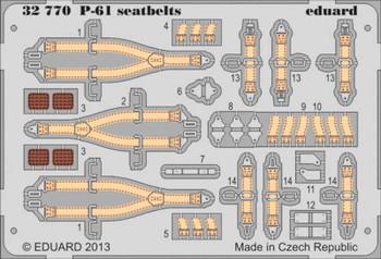Eduard Models Aircraft- P61 Seatbelts -- Plastic Model Aircraft